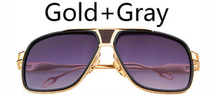 18K Gold Plated Brad Pitt Square Sunglasses UV400