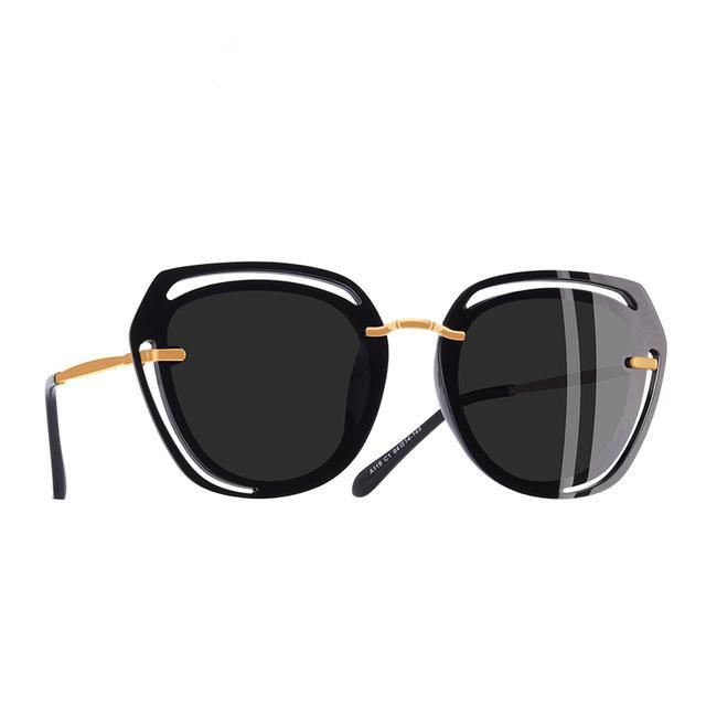 Hollow Out Frame Polarized Sunglasses