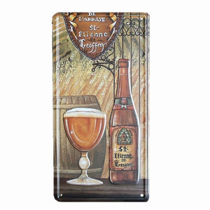 BEER GLASS CAR PLATE Vintage Tin Sign Metal Art Poster