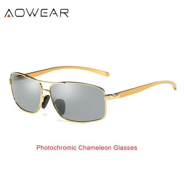 Men's Photochromic Chameleon Polarized Sunglasses