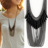 Multi-Layer Alloy Long Necklace Sweater Luxury  Jewelry