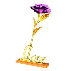24K Foil Plated Gold Rose For Gift