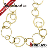 Ethnic Gold/Silver Plated Charms Long Chains Necklace