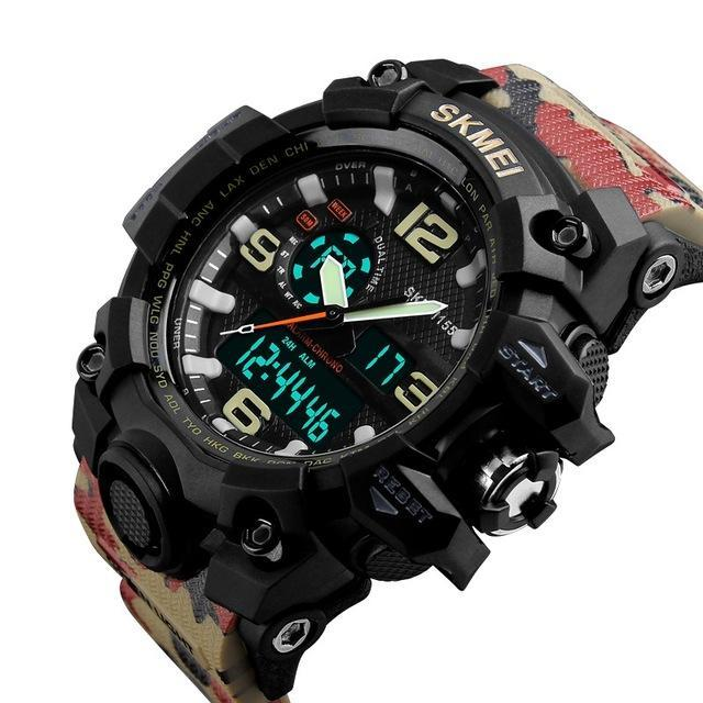 S Shock LED Big Dial Quartz Digital Watch