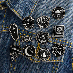 Witches do it better witch ouija spells black moon pins Badges Brooches