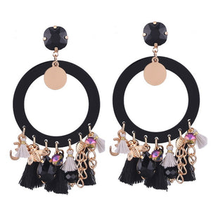 Boho Drop Dangle Fringe Tassel Earrings