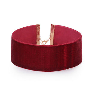 Wine Red Velvet Choker Necklace