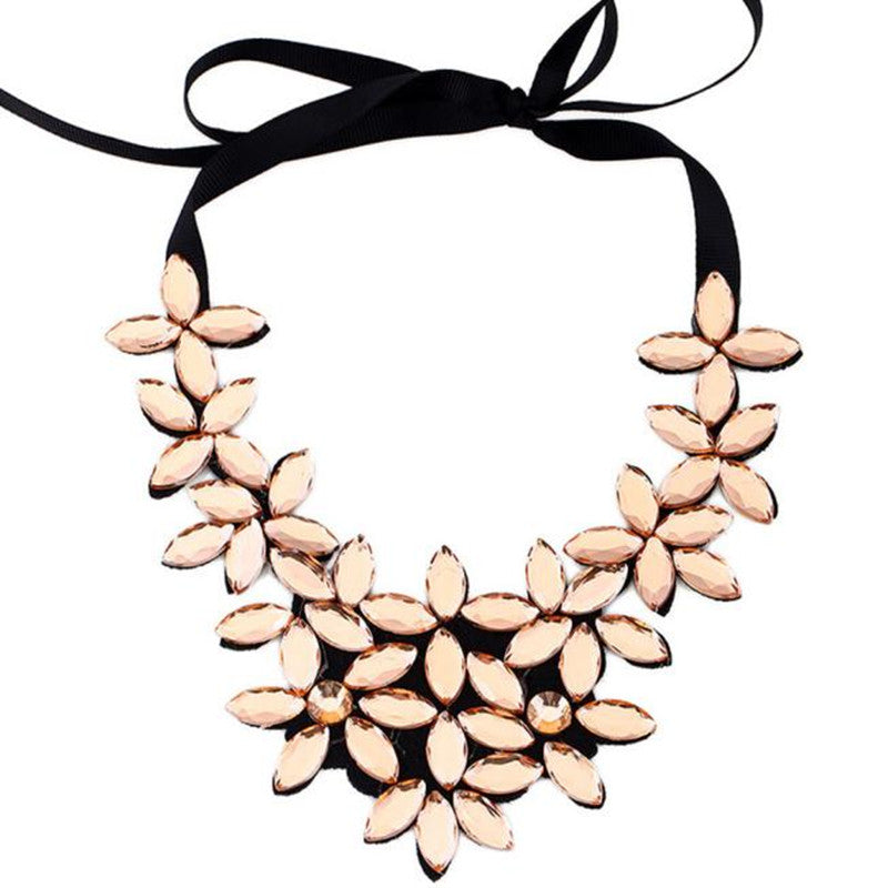 Crystal Flower Vintage Choker Collar Statement Necklaces