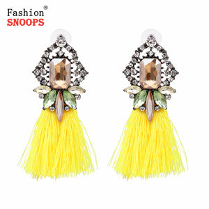 Tassel Bohemian Dangle with Fringe Earrings