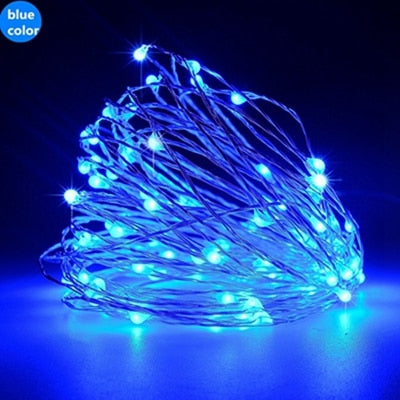 Solar Powered String Lights 5M 50LED | 10M 100LED Copper Wire Outdoor Fairy Light for Christmas Garden
