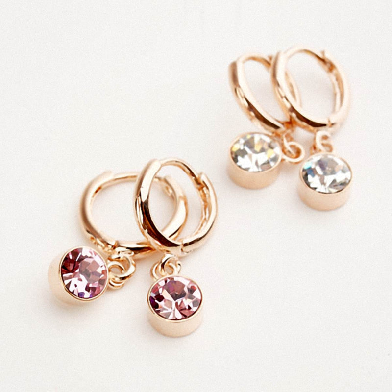 Hot Fashion austrian crystals Round drop earring