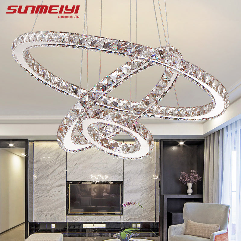 LED Crystal Chandeliers Lighting Pendant Ceiling Fixtures