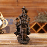 Resin Western Cowboy Figurines Vintage Motorcycle Miniature for Home Decor