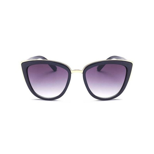 Retro Cat eye Gradient Sun glasses Female Fashion Eyewear UV400