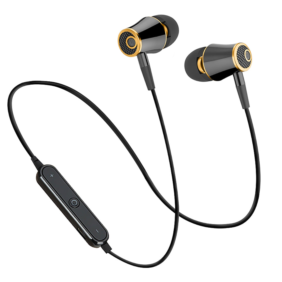 Wireless Bluetooth Sport Sweatproof Headphones with Stereo Super Bass Earbuds,Mic