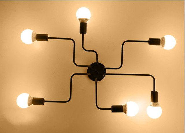 Retro Creative Metal Flush Mount Chandelier Lighting Fixure