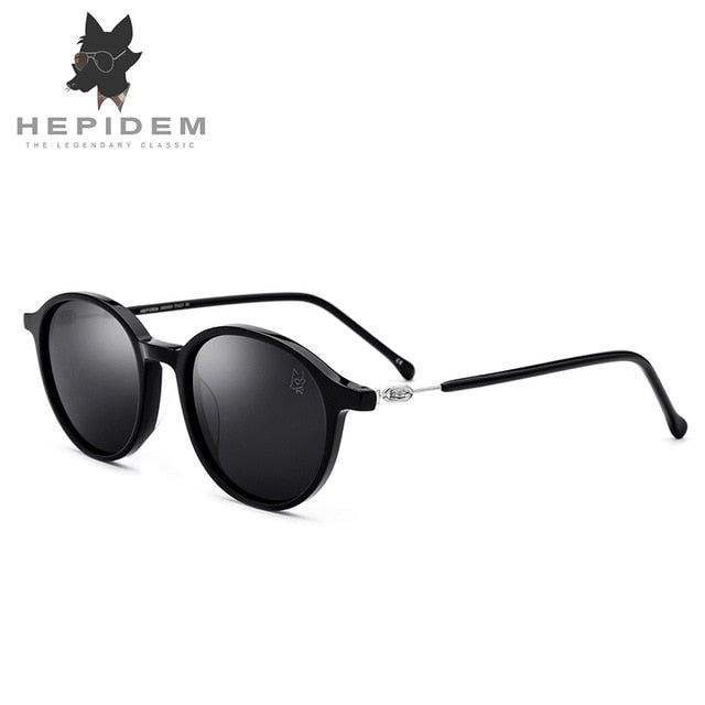 Acetate Sunglasses Men Polarized Brand Designer 2018 New Oliver Round Korean Sun Glasses for Women Peoples Screwless Eyewear
