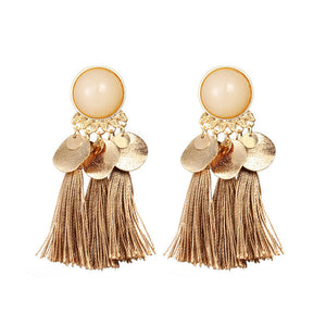Bohemian Round Tassel Drop Earrings