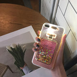 Perfume Bottle Liquid Quicksand Phone Case Call with Call flash