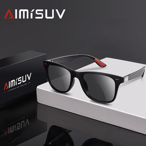 Polarized Classic Rivet Square Frame Sunglasse UV400