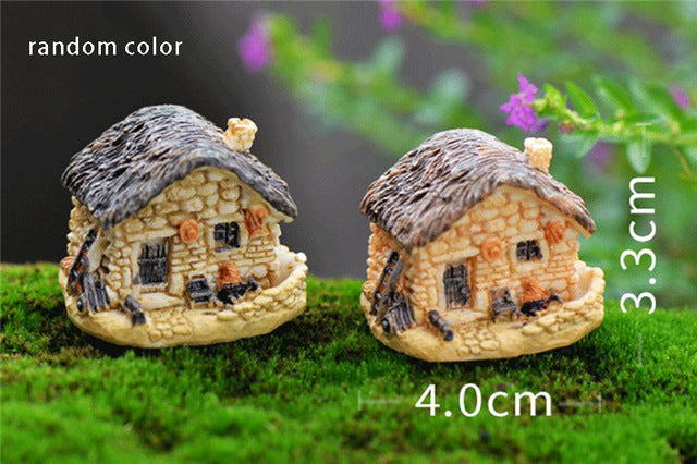 Vintage Artificial Pool Tower Miniature House Fairy Garden Micro Landscape