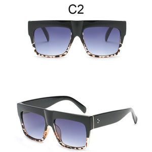 Cool Black Flat Top Square Sun Glasses for Men UV400
