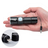 Portable USB Handy Powerful  LED Flashlight Rechargeable Torch