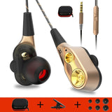 High bass dual drive stereo earphone With Microphone earbuds