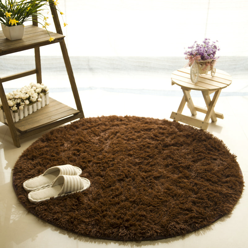 Fluffy Round Rug Carpets for Living Room