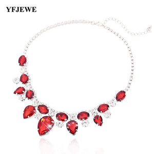 Exquisite Rhinestone Pendant Necklace Fashion Collar Jewelry Red Carpet Necklace