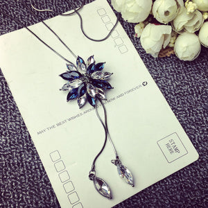MaxiTower Fashion Crystal Jewelry with beaded Flowers