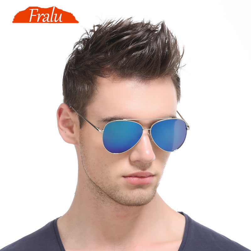 Classic Polarized Vintage Rectangle Anti-UV  Sunglasses Men