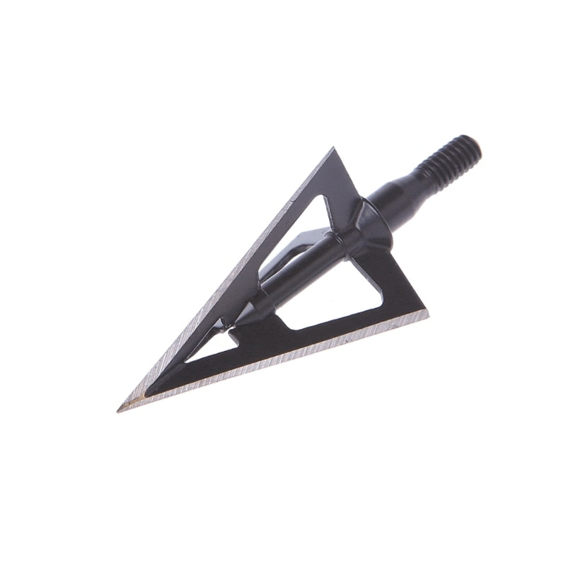 Archery Broadhead 100 Grains Stainless Steel Arrow Heads for Compound & Crossbow Recurve Bow