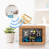 Weather Station | Digital Clock | Temperature | Humidity Sensor | Barometer | Forecast | Desk Table LED Alarm Clock