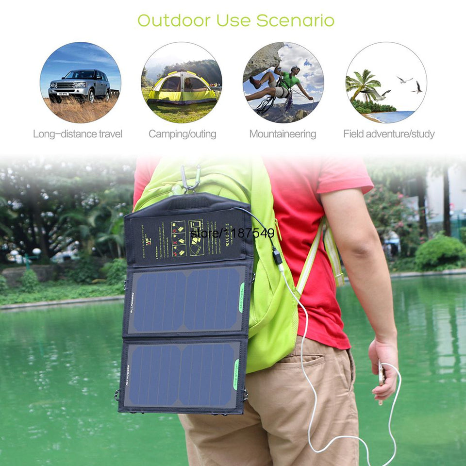 Portable Solar Panel Charger  10W 5V 1.6A Solar Cells  Chargers