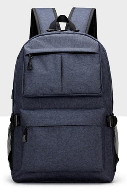 USB Oxford Canvas Laptop Backpack Rucksack Daypack