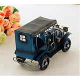 Retro Nostalgia Iron Crafts Metal Antique Car