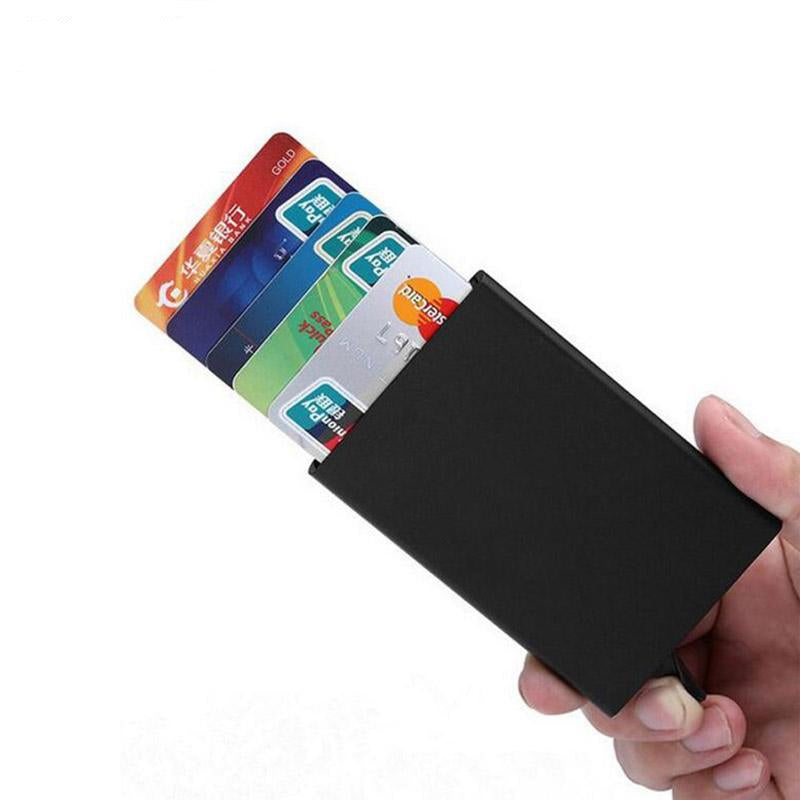 Automatic Pop Up Aluminum Credit Card Holder