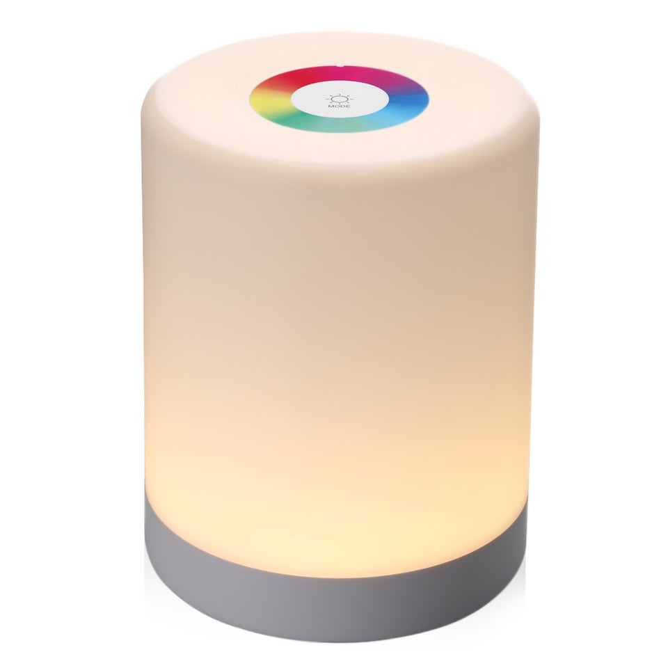 Rechargeable Smart LED Touch Control Night Lamp With Dimmable RGB Color Change