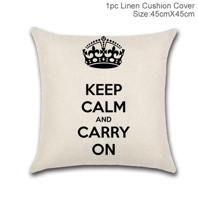 Pillowcase Letters Love Cushion Covers
