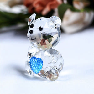 Crystal Cute Bear Miniatures Glasscraft Decorative Paperweight
