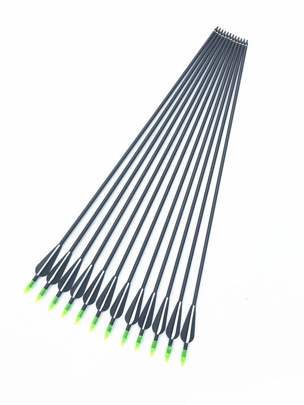 6/12/24 Pcs 32 Inches Fiberglass Arrow 30/40LBS Recurve Bow With Replaceable Arrowhead