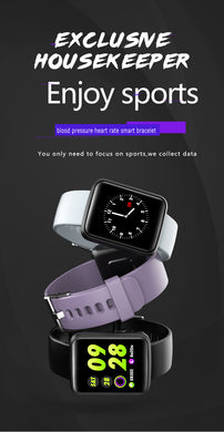 Smart Waterproof Bracelet Sports Watch | Large Color Screen | Heart Rate Blood Pressure Health Monitoring