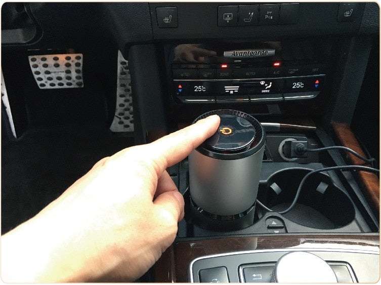 Car Negative Ion Air Purifiers with Dual USB Night Light