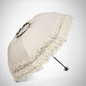 Exquisite Lace Flower Double Layer Princess Umbrella