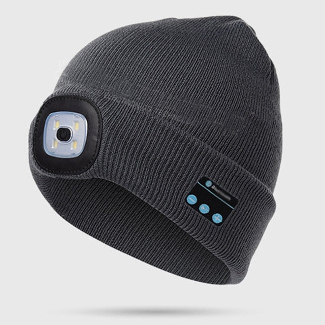 Warm Beanie With Bluetooth Headset & LED Light