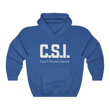 Load image into Gallery viewer, CSI white font Unisex Heavy Blend™ Hooded Sweatshirt
