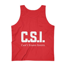 Load image into Gallery viewer, CSI white font Men's Ultra Cotton Tank Top