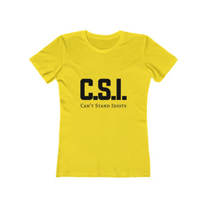 CSI Women's The Boyfriend Tee