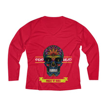 Load image into Gallery viewer, Dead-head Women's Long Sleeve Performance V-neck Tee